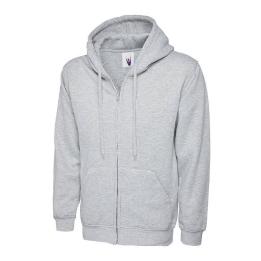 UNEEK UC504 Classic Zipped Hooded Sweat with FREE Logo