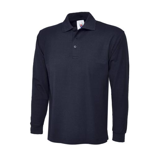 UNEEK UC113 Long Sleeve Polo Shirt with FREE Logo