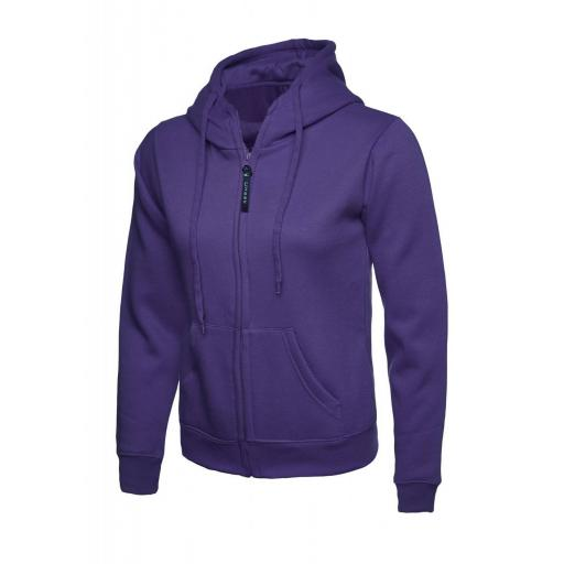 UNEEK UC505 Ladies Classic Full Zip Hooded Sweat with FREE Logo