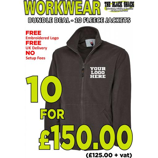 Workwear Bundle - 10 x UC604 Classic Fleece Jackets