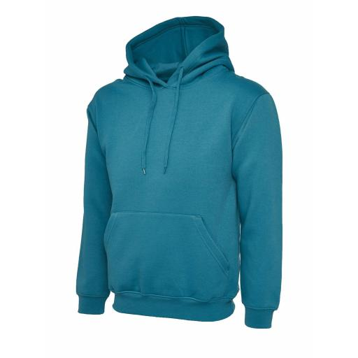 UNEEK UC502 Classic Hooded Sweat with FREE Logo