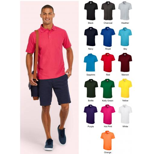 UNEEK UC101 Classic Polo Shirt with FREE Chest Logo