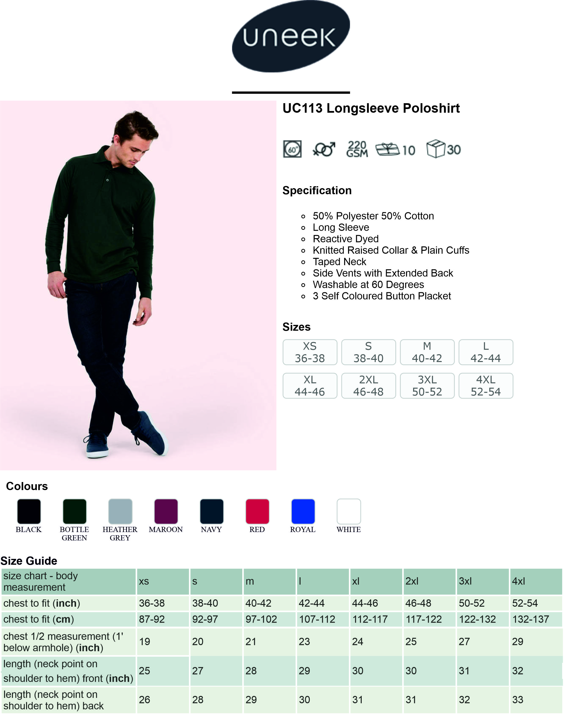 UC113 Long Sleeve Polo Shirt Spec Sheet.jpg