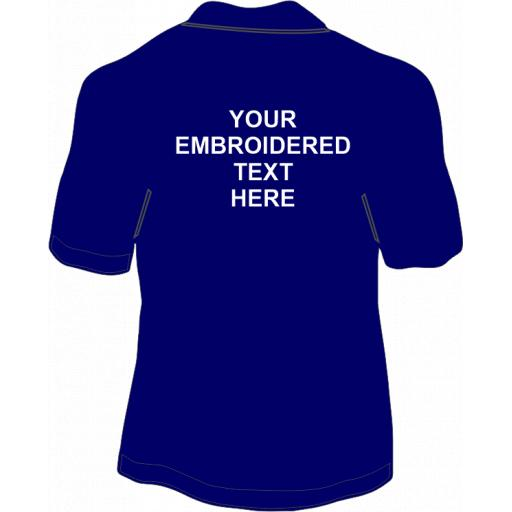 EMBROIDERED Back Text From £5.00