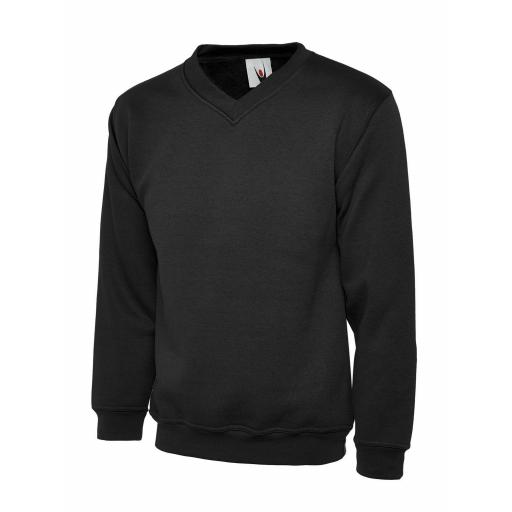 UNEEK UC204 V-Neck Sweat Shirt with FREE Chest Logo - £14.50